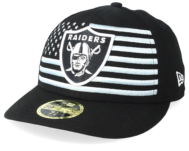 614fba7e4cd19b Oakland Raiders Low Profile 59Fifty NFL Draft 2019 Black Fitted - New Era