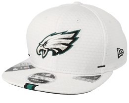 Philadelphia Eagles 9Fifty On Field 19 Training White Snapback - New Era