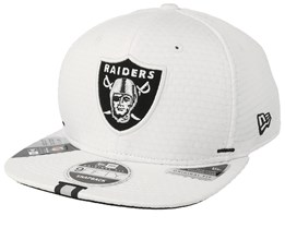 Oakland Raiders 9Fifty On Field 19 Training White Snapback - New Era
