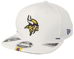Minnesota Vikings 9Fifty On Field 19 Training White Snapback - New Era