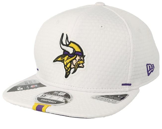 ebb2b9db Minnesota Vikings 9Fifty On Field 19 Training White Snapback - New ...
