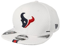 Houston Texans 9Fifty On Field 19 Training White Snapback - New Era