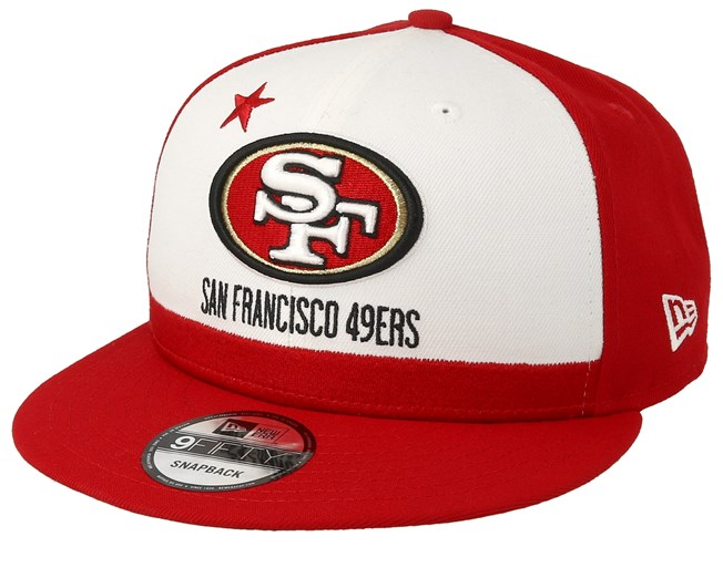 hot sale online ecda2 65cb8 San Francisco 49ers 9Fifty NFL Draft 2019 White Red Snapback - New Era caps  - Hatstoreworld.com