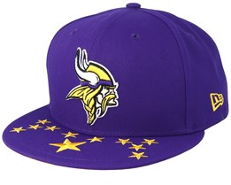 858d0b91e5b01 Minnesota Vikings 9Fifty NFL Draft 2019 Purple Snapback - New Era