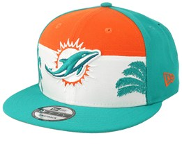Miami Dolphins 9Fifty NFL Draft 2019 Orange/White/Teal Snapback - New Era