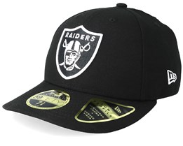 35279fbf23f Oakland Raiders Low Profile 59Fifty Black White Fitted - New Era