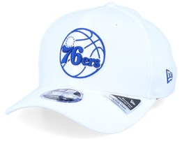 Philadelphia 76ers Base Stretch 9Fifty White/Blue Adjustable - New Era