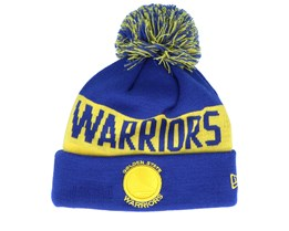 Golden State Warriors Tonal Knit Blue/Yellow Pom - New Era