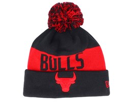 Chicago Bulls Tonal Knit Black/Red Pom - New Era