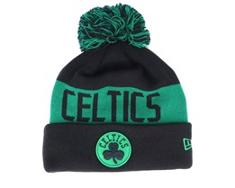 Boston Celtics Tonal Knit Black/Green Pom - New Era