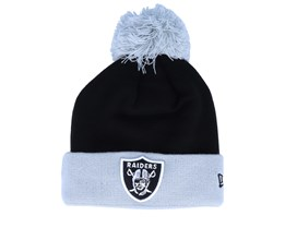 Oakland Raiders Pop Team Knit Black/Grey Pom - New Era