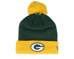 Green Bay Packers Pop Team Knit Green/Yellow Pom - New Era