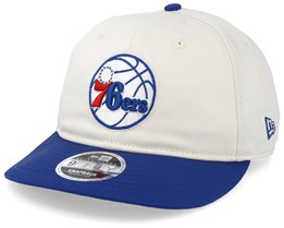 Philadelphia 76ers Retro Crown 9Fifty Stone/Blue Snapback - New Era
