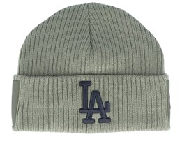 Los Angeles Dodgers Utility Cuff Knit Olive Green/Black Short Beanie - New Era