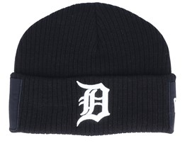Detroit Tigers Utility Cuff Knit Black/White Short Beanie - New Era