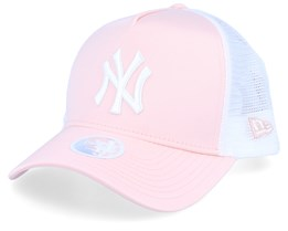 New York Yankees Womens Satin Pink/White Trucker - New Era