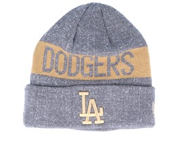 Los Angeles Dodgers Marl Knit Dark Grey/Khaki Cuff - New Era