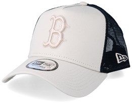 Boston Red Sox League Essential A-Frame Light Beige/Black Trucker - New Era
