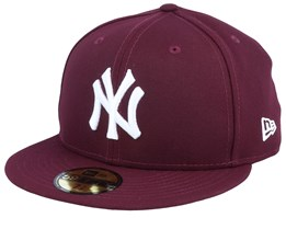 New York Yankees League Essential 59Fifty Maroon/White Fitted - New Era