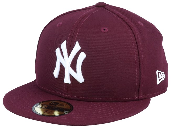 White Team Logo New Era 59Fifty Fitted Hat Cap New York NY Islanders All Black