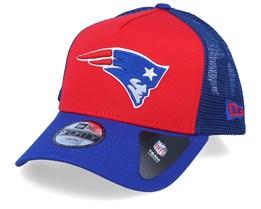 Kids New England Patriots A-Frame Red/Royal Trucker - New Era