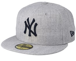 New York Yankees 59Fifty Heather Gray/Black Fitted - New Era