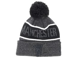 Manchester United Reflect Bobble Cuf Black/White Pom - New Era