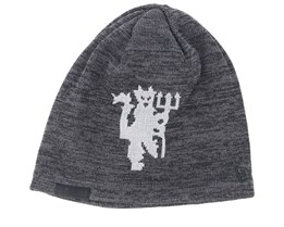 Manchester United Fall 19 Printed Skull Ki Dark Grey/Grey Beanie - New Era