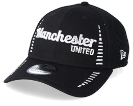 Manchester United Fall 19 Script Pattern 3 Black Flexfit - New Era