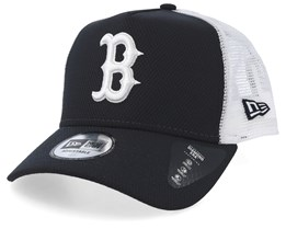 Boston Red Sox Diamond Era A-Frame Navy/White Trucker - New Era