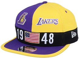 LA Lakers Colour Block Lg 9Fifty Purple/Yellow Snapback - New Era