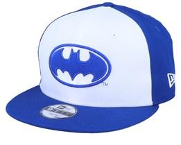 Kids Batman Character Front 9Fifty White/Blue Snapback - New Era