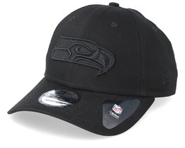 Seattle Seahawks 9Forty Black/Black Adjustable - New Era