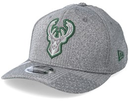 Milwaukee Bucks Training Series 9Fifty Stretch-Snap Dark Grey/Green Snapback - New Era