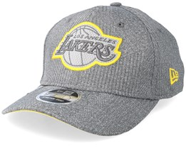 LA Lakers Training Series 9Fifty Stretch-Snap Dark Grey/Yellow Snapback - New Era