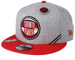 the best attitude f689a 2a81e Toronto Raptors 19 NBA 9Fifty Draft Heather Grey Red Snapback - New Era