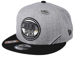 San Antonio Spurs 19 NBA 9Fifty Draft Heather Grey/Black Snapback  - New Era