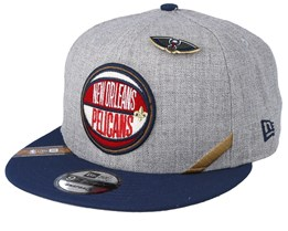 New Orleans Pelicans 19 NBA 9Fifty Draft Heather Grey/Navy Snapback  - New Era