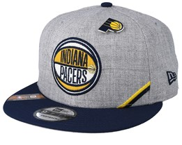 Indiana Pacers 19 NBA 9Fifty Draft Heather Grey/Black Snapback  - New Era