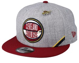 Cleveland Cavaliers 19 NBA 9Fifty Draft Heather Grey/Maroon Snapback  - New Era