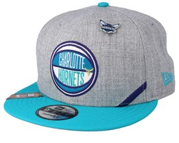 huge discount 54d14 fe6d5 Charlotte Hornets 19 NBA 9Fifty Draft Heather Grey Teal Snapback - New Era