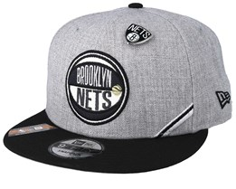 Brooklyn Nets 19 NBA 9Fifty Draft Heather Grey/Black Snapback  - New Era