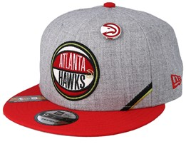 Atlanta Hawks 19 NBA 9Fifty Draft Heather Grey/Red Snapback  - New Era