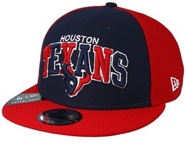 Houston Texans On Field 19 9Fifty 1990 Navy/Red Snapback - New Era