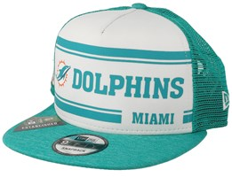Miami Dolphins On Field 19 9Fifty 1970 White/Teal Trucker - New Era