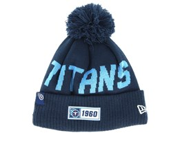 Tennessee Titans On Field 19 Sport Knit Navy/Blue Pom - New Era