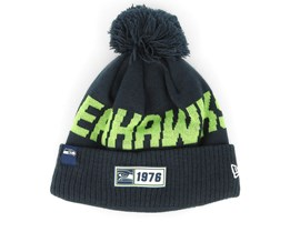 Seattle Seahawks On Field 19 Sport Knit Navy/Green Pom - New Era