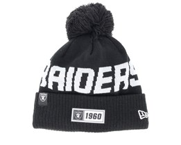 Oakland Raiders On Field 19 Sport Knit Black/Grey Pom - New Era