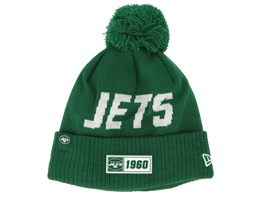 New York Jets On Field 19 Sport Knit Green/White Pom - New Era
