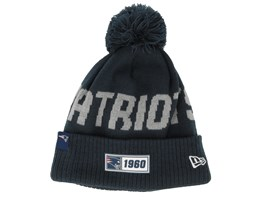 New England Patriots On Field 19 Sport Knit Navy/Grey Pom - New Era